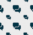 Speech bubble Think cloud icon sign Seamless vector image
