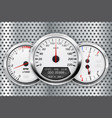 speedometer car dashboard on metal perforated vector image vector image