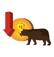 Stock market and exchange vector image