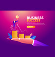 success concept businessman holding goal target vector image