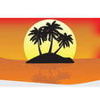 sunset paradise vector image vector image