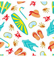 swimming equipment seamless pattern vector image vector image