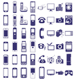 telephone equipment icons on white vector image vector image