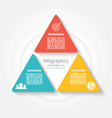 triangle infographic template business concept vector image vector image