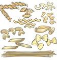 Vermicelli spaghetti pasta icons set