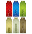 vintage color labels with sale offer vector image vector image