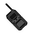 walkie-talkiepaintball single icon in black style vector image vector image
