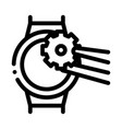 watch change gear icon outline vector image vector image
