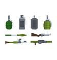 weapons heavy artillery military items grenade vector image