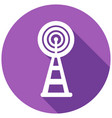 wireless icon with a long shadow vector image