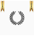 wreath flat icon vector image vector image