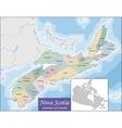 Map of Nova Scotia vector image