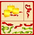 festive set packing tape plus vector image