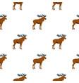moose pattern flat vector image