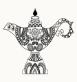 Alladin Magic Lamp line art design for coloring bo vector image