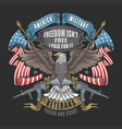 america eagle usa flag and weapon artwork vector image