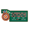 American roulette table vector image vector image