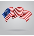 American waving Flag vector image