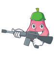 army rose apple character cartoon vector image vector image