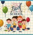 back to school happy children vector image vector image