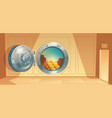 background - bank vault door with gold vector image vector image