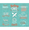 bakery characters retro vector image