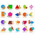 basic geometric shapes for kids with animals