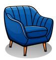 blue armchair cartoon isolated vector image vector image