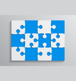 blue piece puzzle banner 12 step background vector image vector image