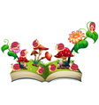 Book of snails in the garden vector image vector image