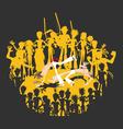 brazilian martial art capoeira roda circle vector image vector image