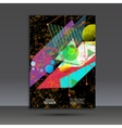 Brochure template with abstract geometric design vector image vector image