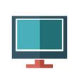 cartoon screen monitor display technology vector image vector image