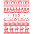 christmas pattern its christmas carol vector image vector image