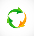 circle arrow recycle abstract logo vector image