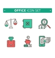 collection of simple thin business and vector image vector image