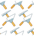 crossing hammer and trowel pattern vector image vector image