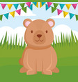 cute bear teddy character vector image