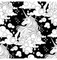 cute graphic unicorn pattern vector image vector image