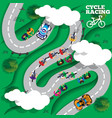 cyclists group at professional race vector image vector image