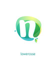 ecology lowercase letter n logo overlapping vector image vector image