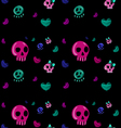 emo style seamless pattern vector image vector image