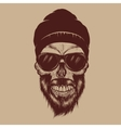 Fashionable skull vector image