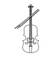 fiddle instrument isolated icon vector image