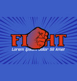 Fight championship logo with hand fist