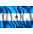 Flag of Nicaragua Rectangular Shaped Icon vector image vector image