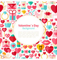 Flat Valentines Day Background vector image vector image