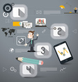 Four Steps Infographics Layout with Business Man vector image vector image