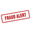 fraud alert vector image vector image