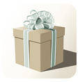 Gift box whit big ribbon vector image